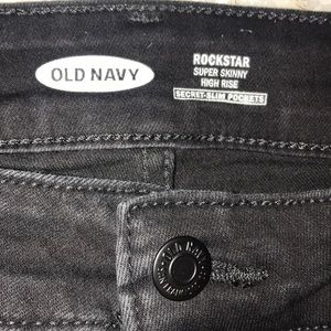 Old Navy Rock Star Black Jeans Super Skinny 20